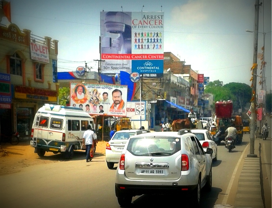 Billboards Ads In Champapet Hp Petrol Pump