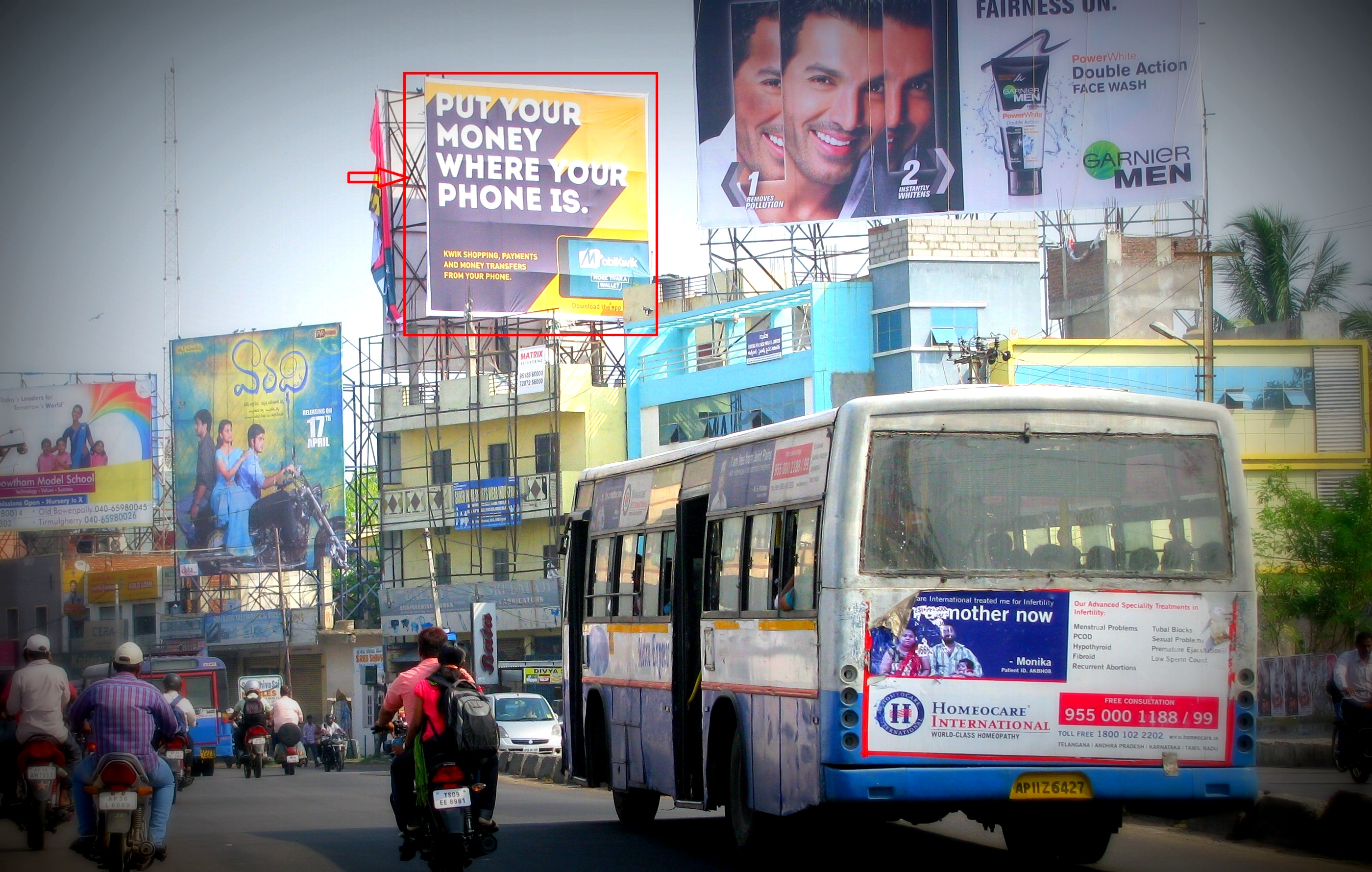 Billboards Ads In Bowenpally Bata