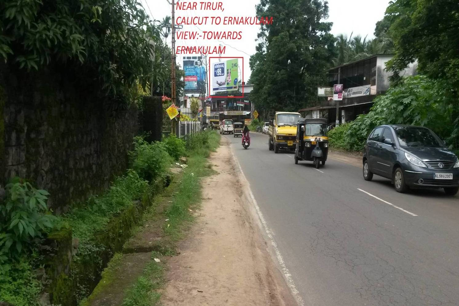 Advertisement Billboard In Pookkayil Road